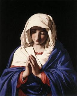 maria rezando